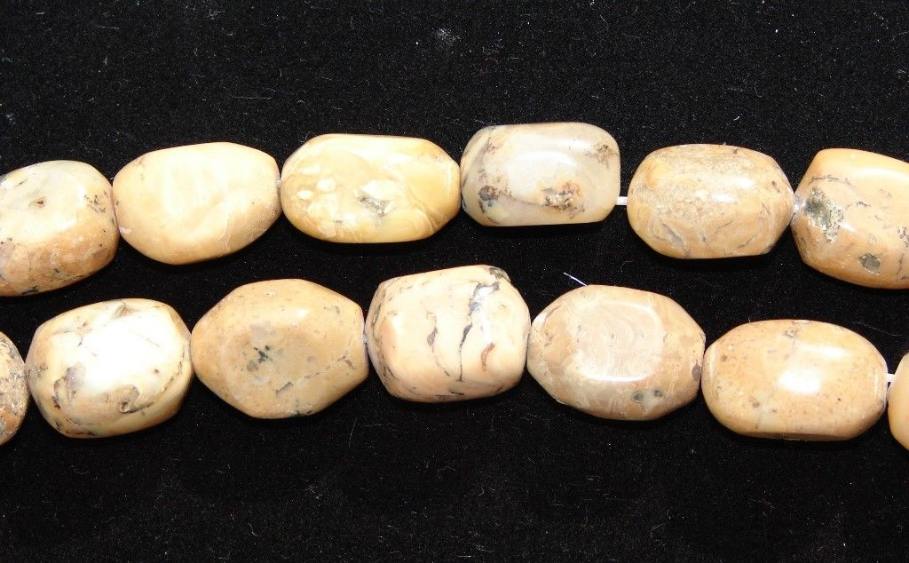 Lot of Five (5) African Opal Nugget Beads