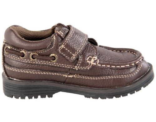 Sperry Boys Boat Lug H&L Brown Leather Shoes SZ 12.5 Wide (Little Kid)