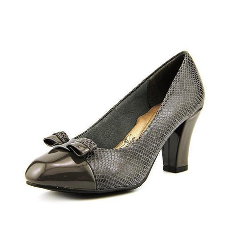 Hush Puppies Cailin Women' s Dark Grey Python Pumps Size 10