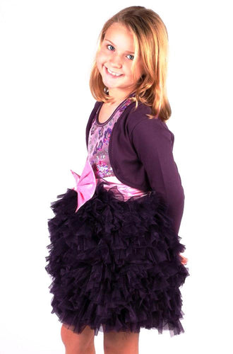 Ooh La La Couture Girls Plum Shrug Size 5
