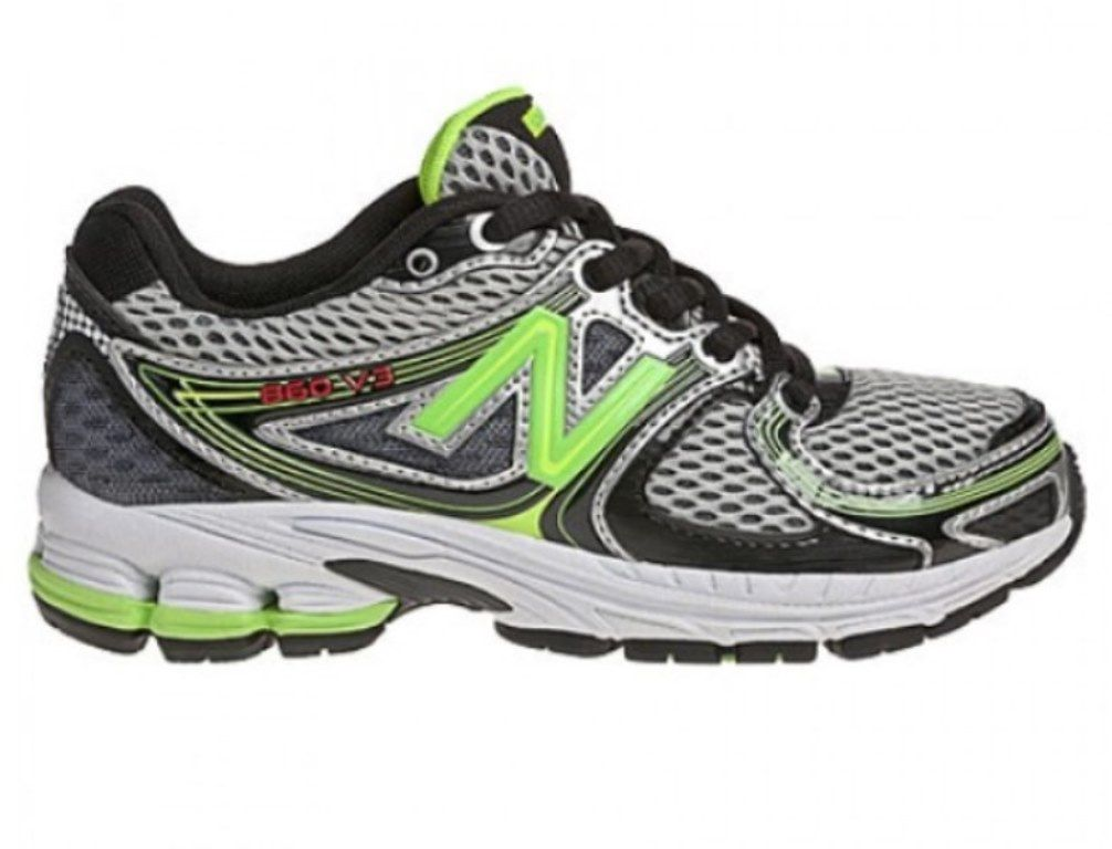 New Balance KJ860GGY Boys Grey Green Running Shoes SZ 12.5 M (Little Kid)