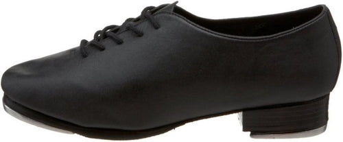 Leo's Giordano J.T. Women's Black Leather Tie Tap Shoes
