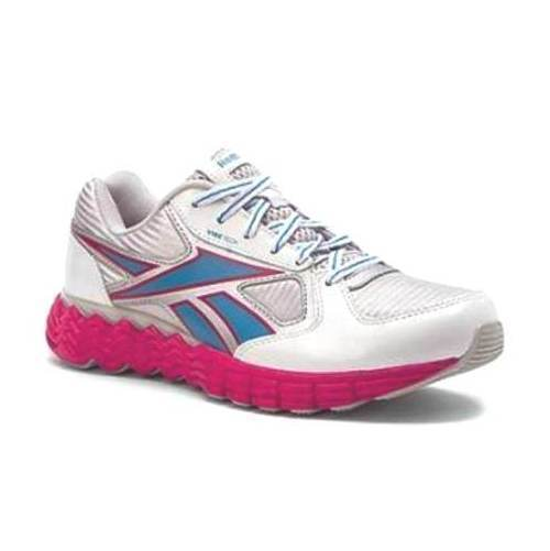 Reebok Ultimate Vibe Girls White Pink Running Shoes SZ 6.5 (Big Kid)