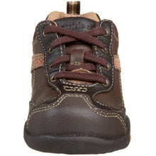 Stride Rite Dylan Boys Brown Leather Shoes Size 4 M (Infant)