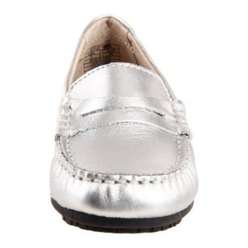 Umi Morie II Girls (Big Kid) Metallic Silver Leather Penny Loafers