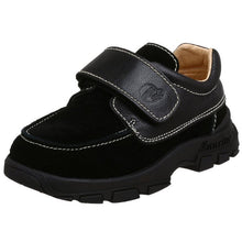 Naturino 4448 Boys Black Leather Suede Dress Shoes