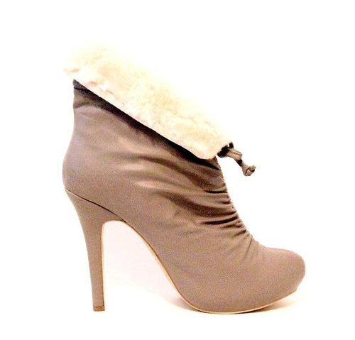 Lovely People Candis Women's Taupe Ankle Boots SZ 8.5