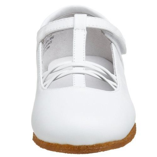 Jumping Jacks Susie Girls White Leather Dress Communion Shoes  Size 10.5 M