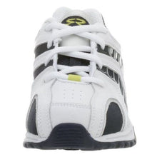 Stride Rite Asteriod Boys White Navy & Lime Leather Sneakers