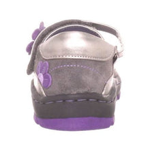 Jumping Jacks Flower Breeze Girls  Mary Jane Brown Silver Purple Leather Shoes