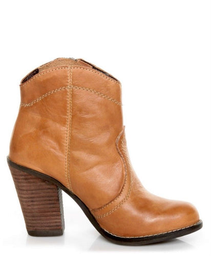 Kelsi Dagger Hanly Cognac Leather Ankle Boots SZ 9.5