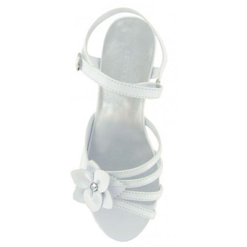Jumping Jacks Monique Girls White Dress Sandals