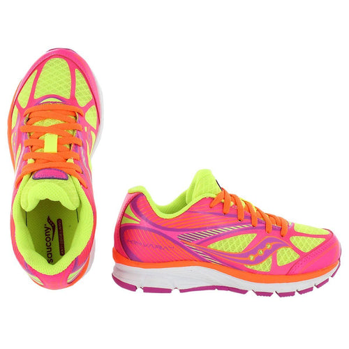 Saucony Kinvara 4 Girls Pink Orange Lime Running Shoes