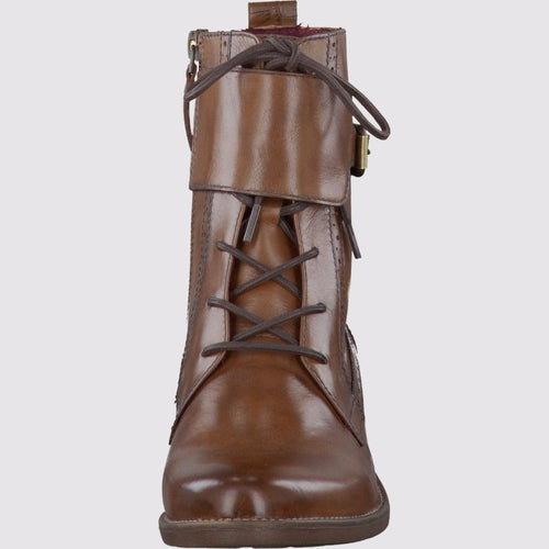 TAMARIS Brown Leather Ankle Boots