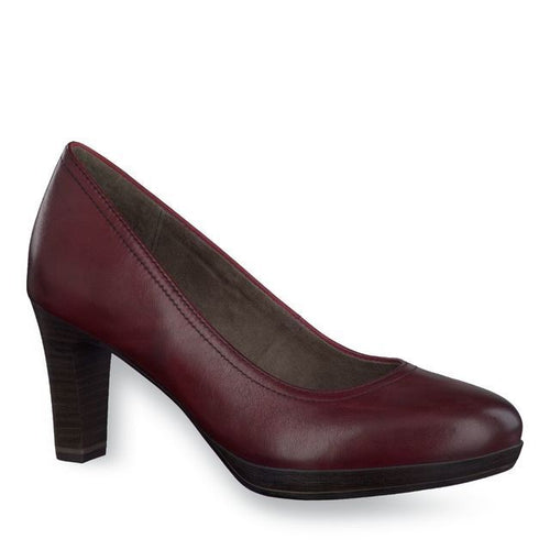 Tamaris Zealot Women's Burgundy Leather Pumps