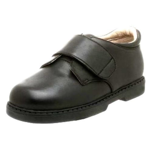 Jumping Jacks Brian Boys Black Leather School Shoes 7.5 Wide