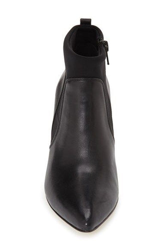 Bella-Vita Deryn Women's Black Leather Wedge Ankle Boots