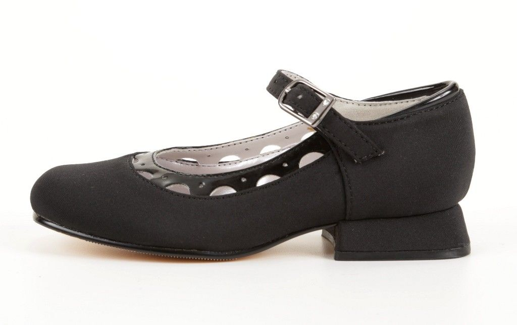 Jumping Jacks Nel Girls Black Mary Jane Dress Shoes
