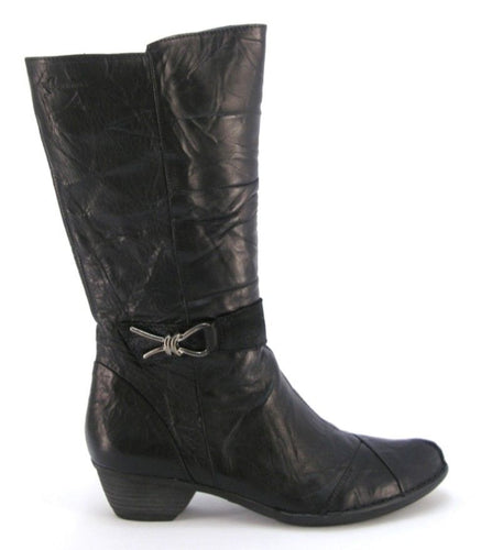 Dorking Nina Women's Black Leather Mid Boots
