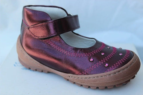 Shoe Be Doo Girls Purple Premium Leather Shoes ITALY Size 6 US 22 EU (Infants)