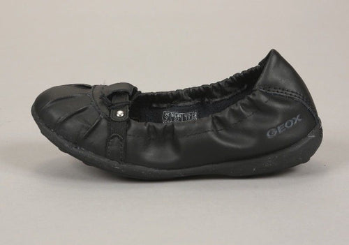 Geox Respira Jodie Girls Black Ballet Flat Shoes