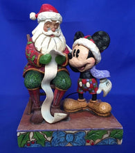 Jim Shore Checking it twice Mickey Mouse & Santa