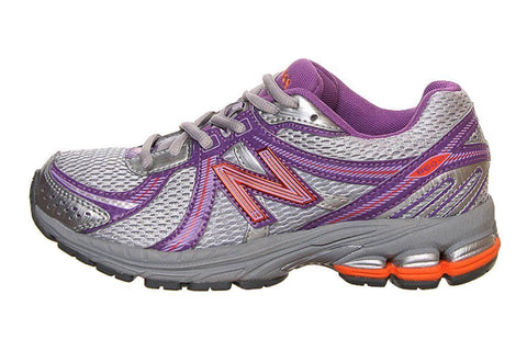 New Balance KJ860 Girls Silver Purple Running Shoes
