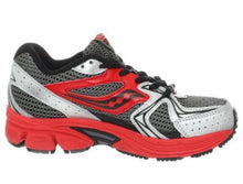 Saucony Cohesion 6 Boys Grey Red Leather Running Shoes Size 11.5 M (Toddler)