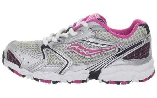 Saucony Cohesion Girls Pink Silver Leather Athletic Shoes Size 5.5 Wide (Infants)