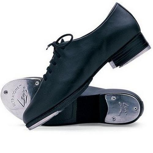 LEO'S Giordano J.t. Big Kid Black Leather Tie Tap Shoes