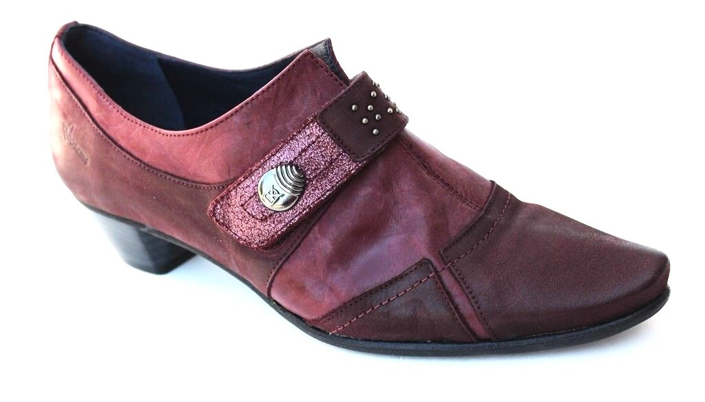 Dorking Edurne 6488 Women's Burdeos Leather Booties