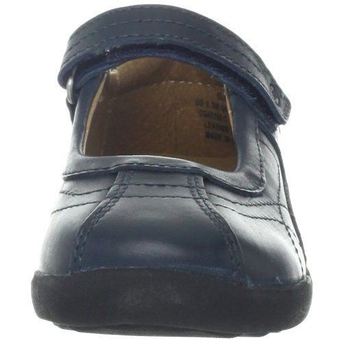 Stride Rite Claire Girls Navy Leather School Shoes Size 10.5 Wide