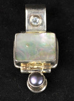 Pearl, Stone & .925 Silver Medium (1