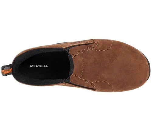 Merrell Jungle Moc Boys Nubuck Brown School Shoes Size 10.5 (Toddlers)