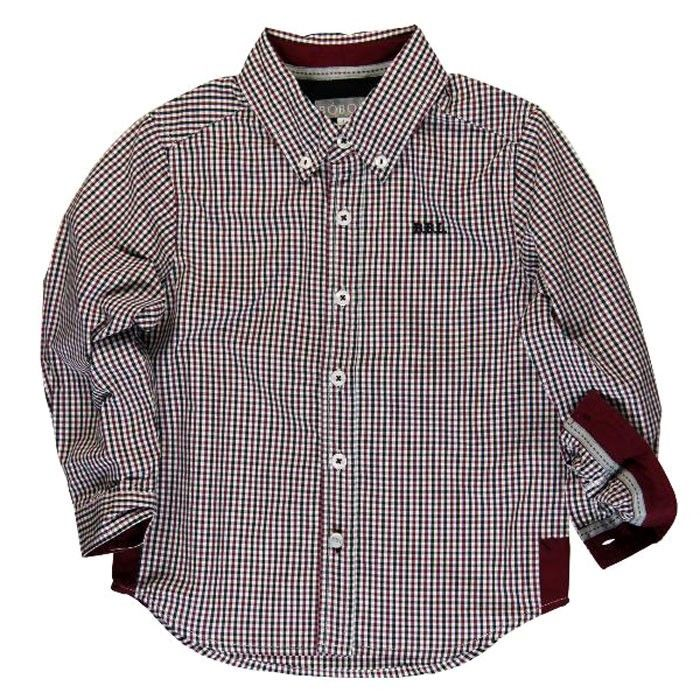 BOBOLI Boutique Designer Checked Boys Cotton Shirt