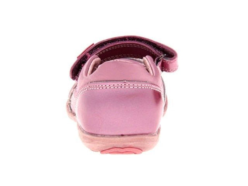 Beeko Goldy Girls Pink Leather Mary Jane Shoes
