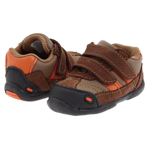 Jumping Jacks Playtime Boys Brown Leather Shoes 4-4.5 Wide