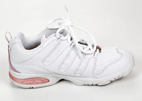 Stride Rite Haley Girls White Pink Leather Sneakers  Size 2 Wide (Big Kid)