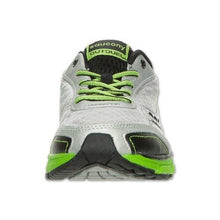 Saucony Outduel Boys Silver Lime Leather Running Shoes Size 12.5 Wide (Big Kid)