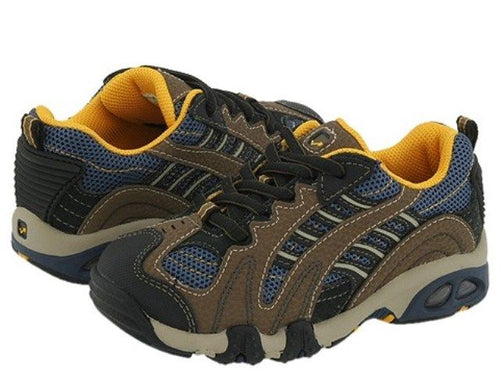 Stride Rite Lawrence Boys Brown Blue Leather School Shoes