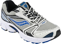 Saucony Baby Cohesion Infant Boys Leather Silver Blue Running Shoes Size 7