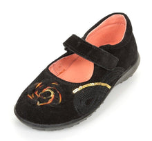 Naturino 1753 Girls Black Suede Mary Jane Dress Shoes