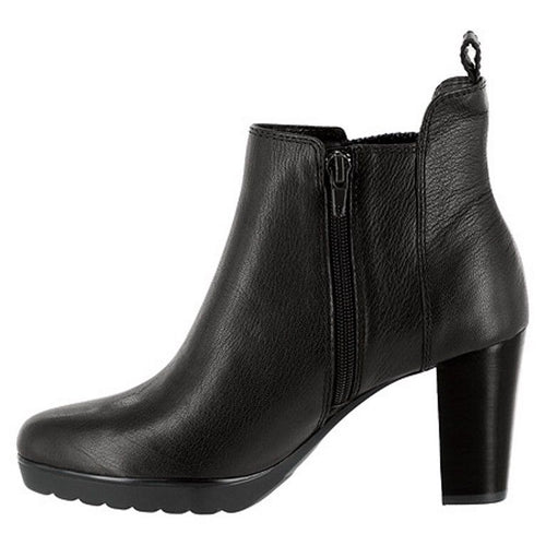 Bella-Vita Zana Women's Black Leather Ankle Boots