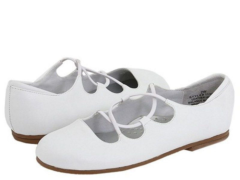 Balleto (by Jumping Jacks) Teri Girls White Leather Dress Shoes
