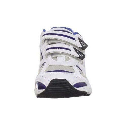 Jumping Jacks Rachet Boys White Blue Leather Sneakers Size 10-10.5 M