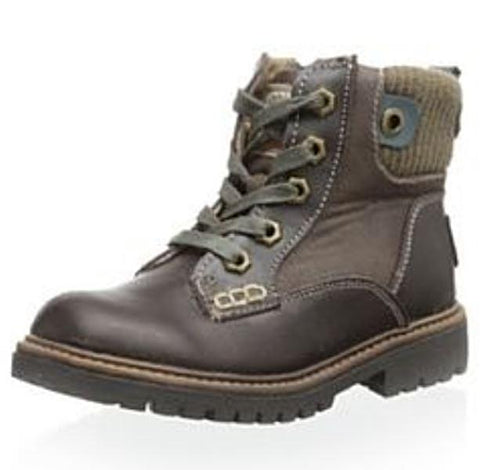 Beeko Jared Boys Brown Leather Lace Boots SZ 1.5