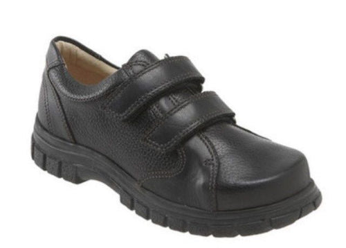 Umi Badger Boys Black Pebble Leather Shoes Size 27 EU 10 US (Toddler)