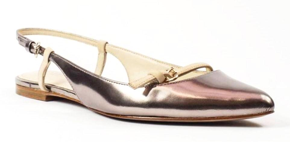 Coach Wooster Warm Blush & Bronze Leather Flats Shoes Size 5.5