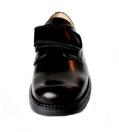 NATURINO Mio Abrasivato Premium Boys Dark Brown Leather Dress Shoes