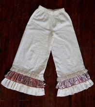 A. Bird Girls Linen w Crushed Velvet & Lace Pants SZ 6